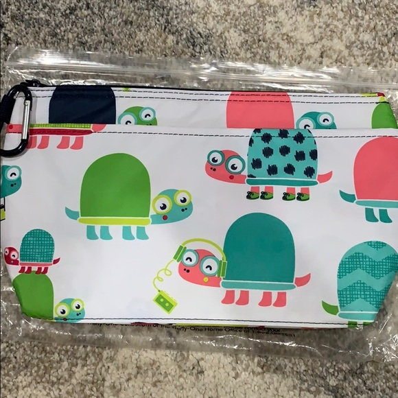 Thirty one Cool Clip Thermal Pouch in Topsy Turtles NWT